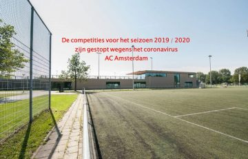 Einde competities AC Amsterdam
