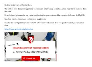 Voetbalvereniging in Amsterdam